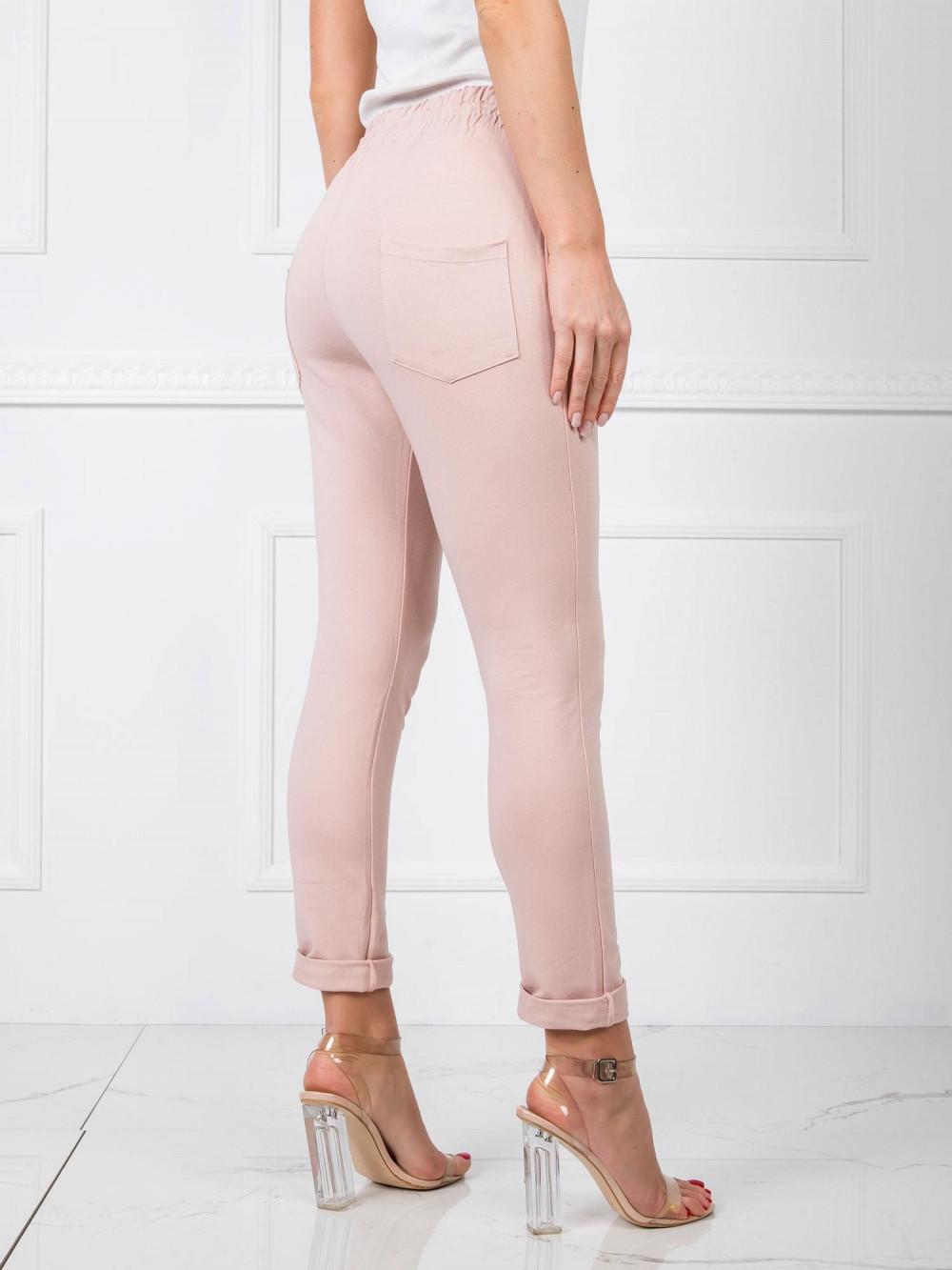 Różowe spodnie dresowe z wysokim stanem Primes 3