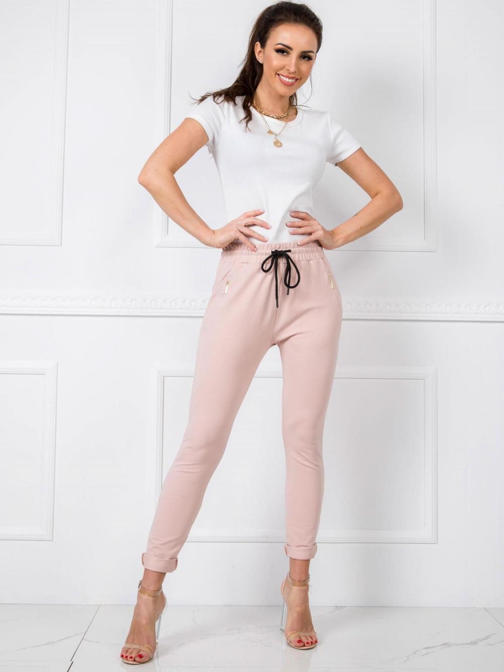 Różowe spodnie dresowe z wysokim stanem Primes 1