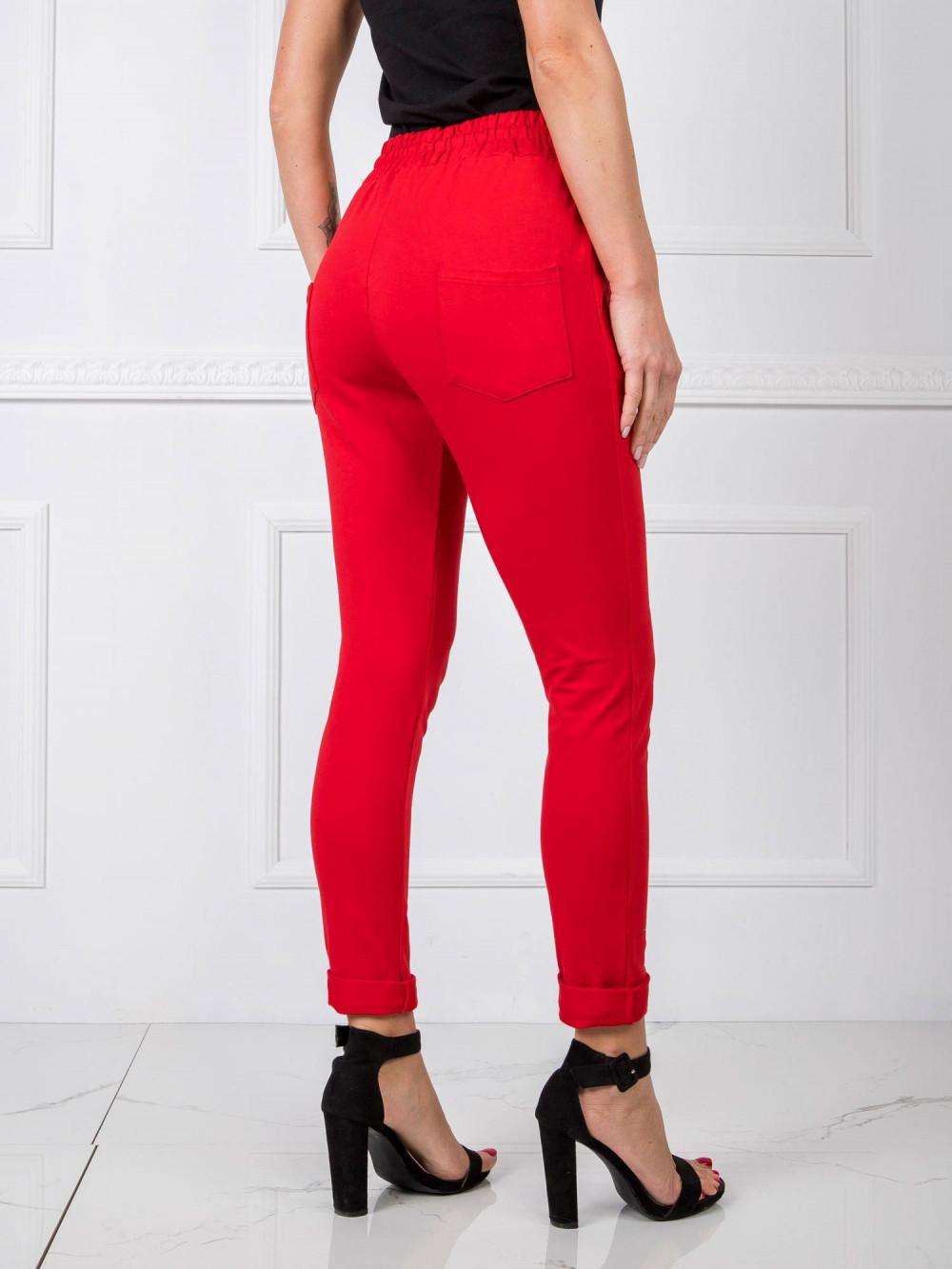 Czerwone spodnie dresowe z wysokim stanem Primes 3