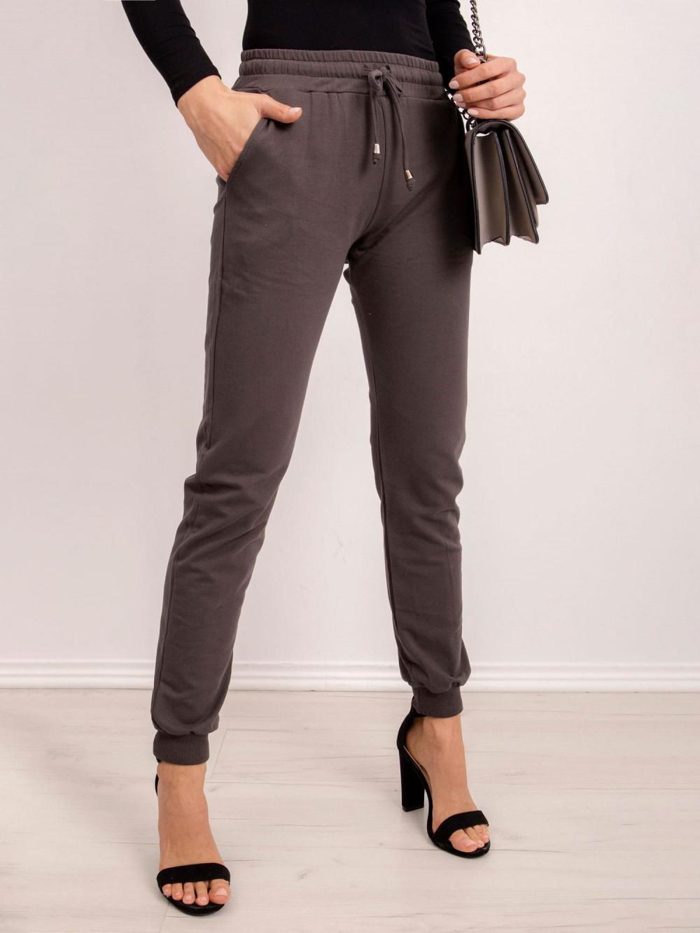 Khaki spodnie dresowe ze ściągaczami Lilo 3
