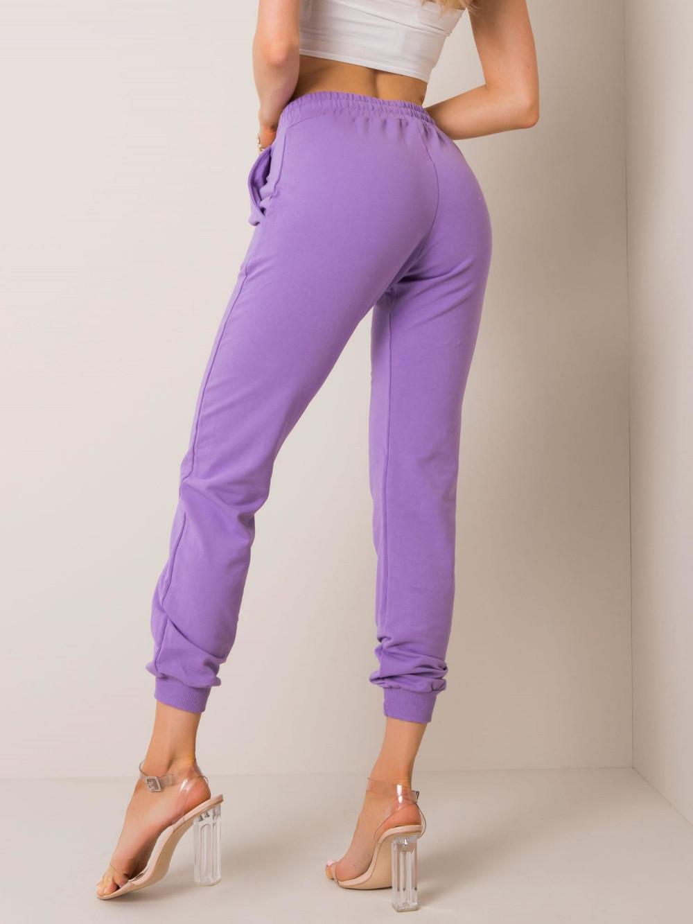 Fioletowe spodnie dresowe ze ściągaczami Lilo 3