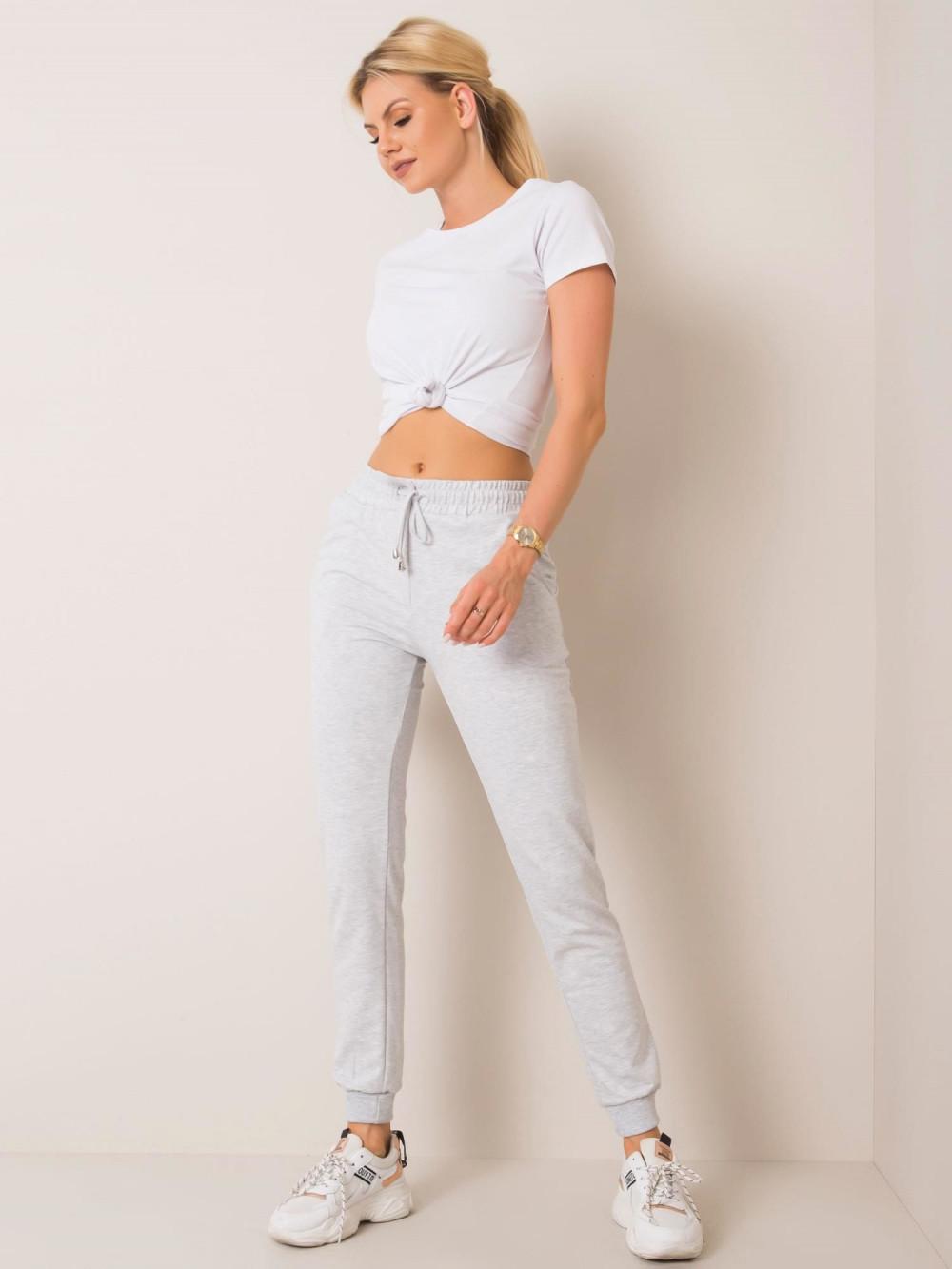Szare spodnie dresowe ze ściągaczami Lilo 1