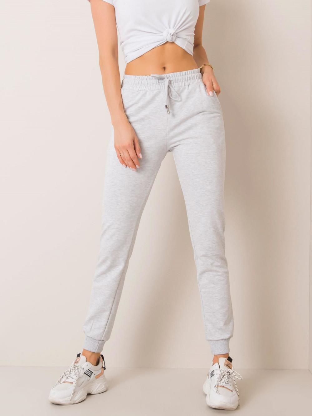 Szare spodnie dresowe ze ściągaczami Lilo 2