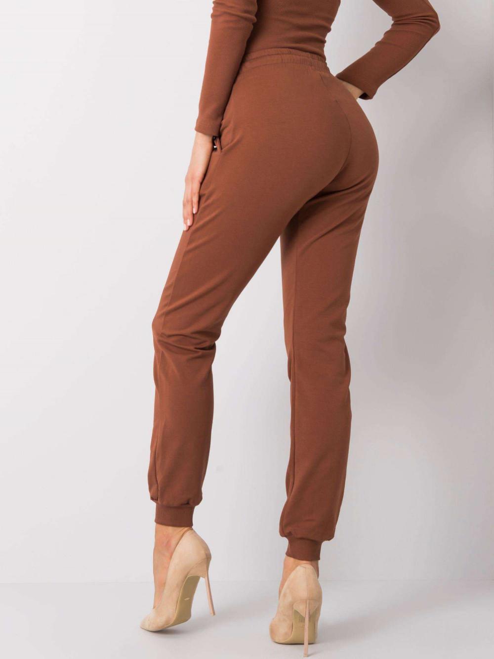 Brązowe spodnie dresowe ze ściągaczami Lilo 4