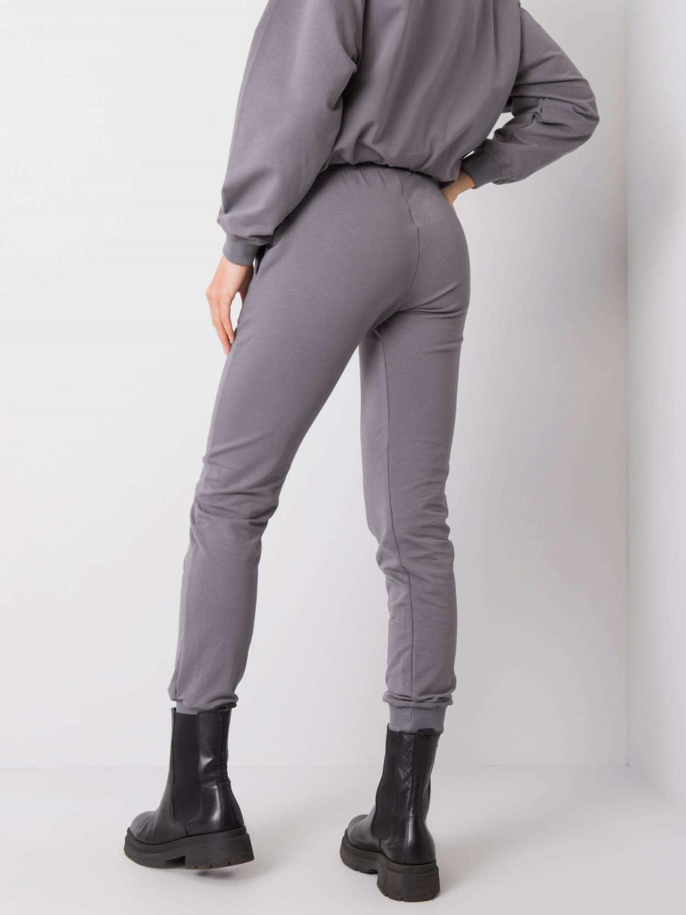 Ciemnoszare spodnie dresowe ze ściągaczami Lilo 4