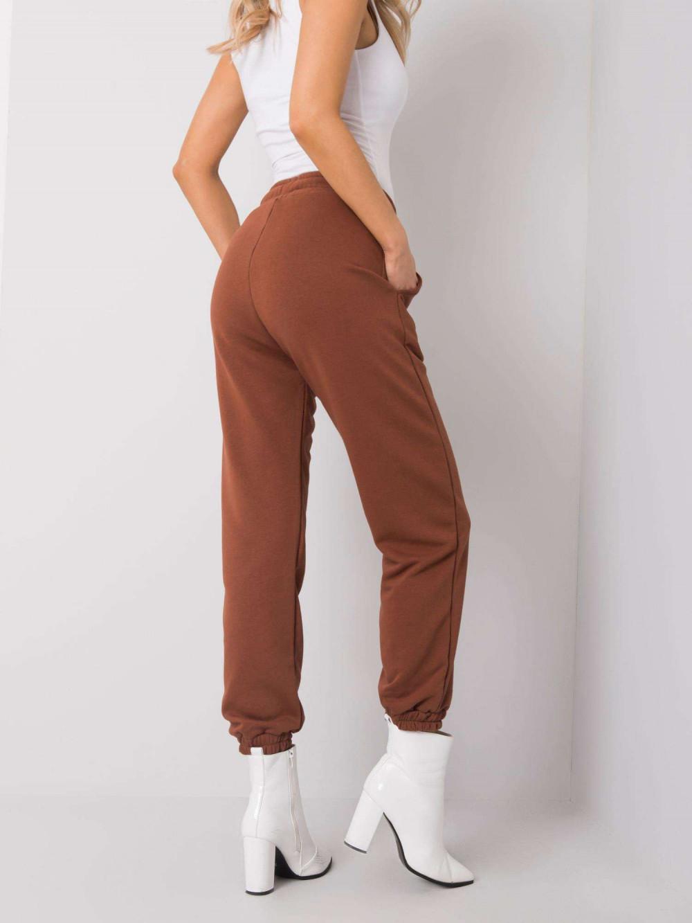 Brązowe spodnie dresowe ze ściągaczami Asma 4