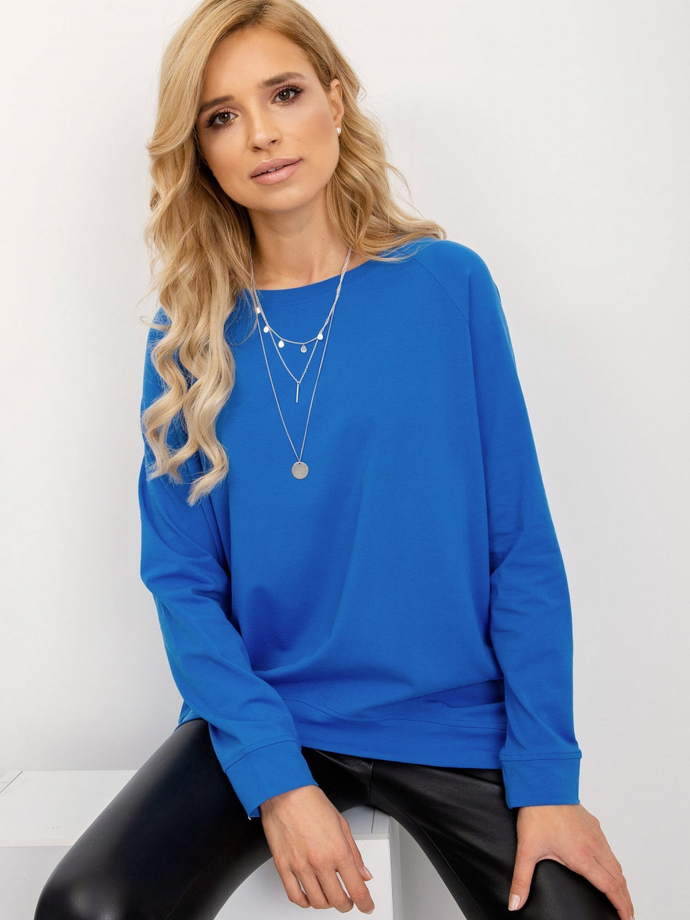 Niebieska klasyczna bluza Denma 1