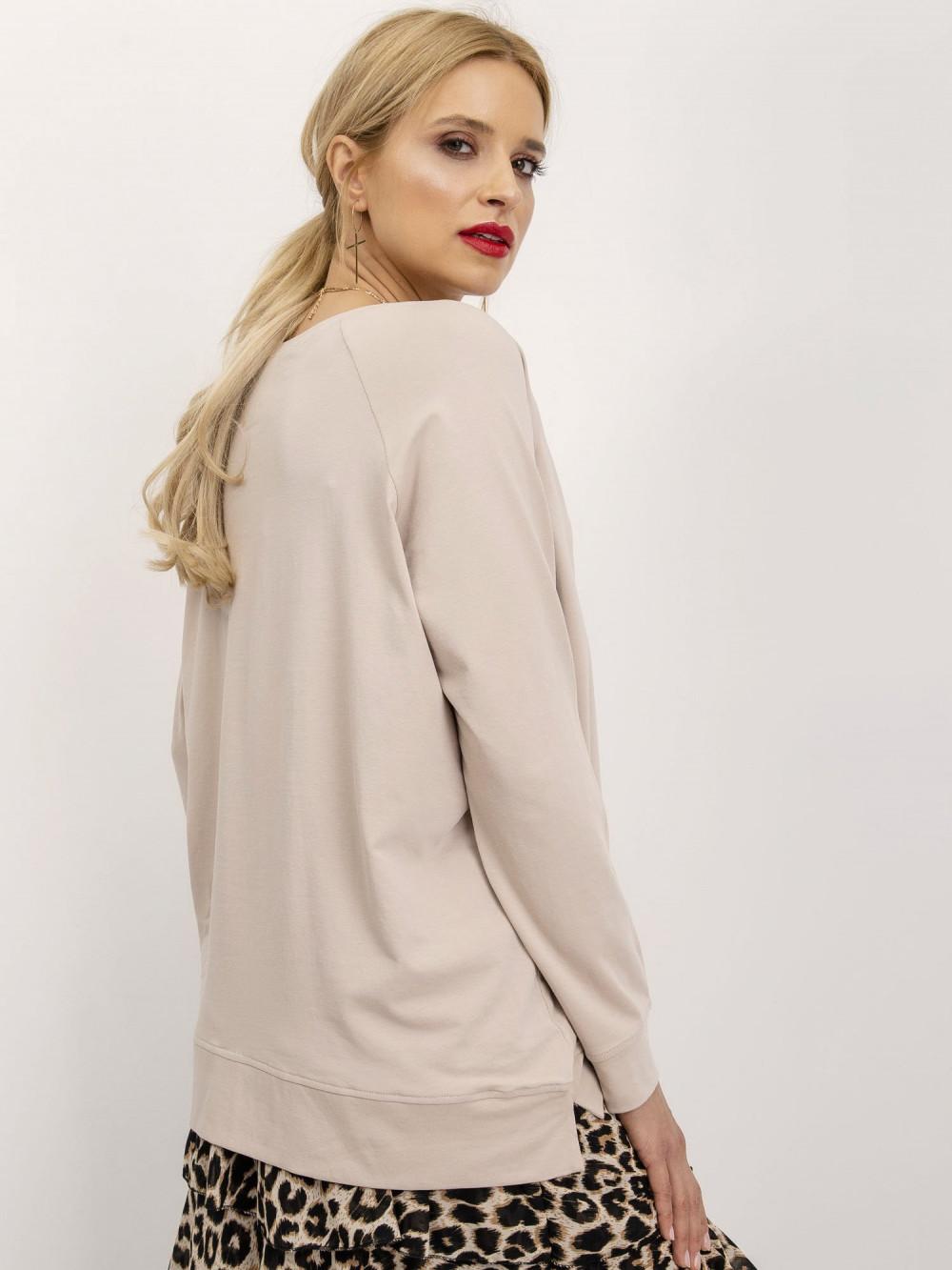 Beżowa klasyczna bluza Denma 2