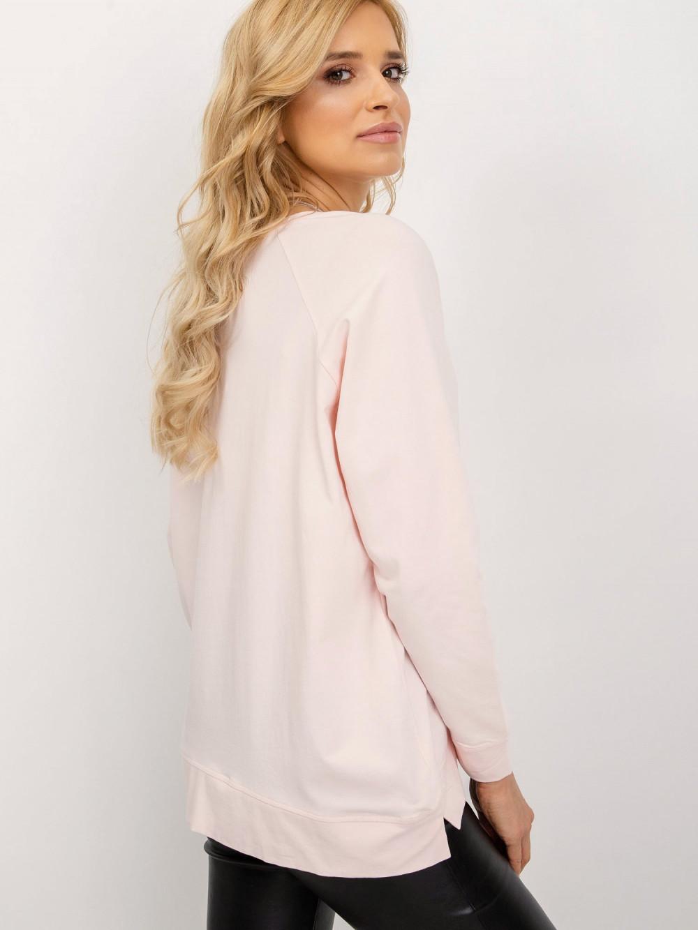 Różowa klasyczna bluza Denma 2