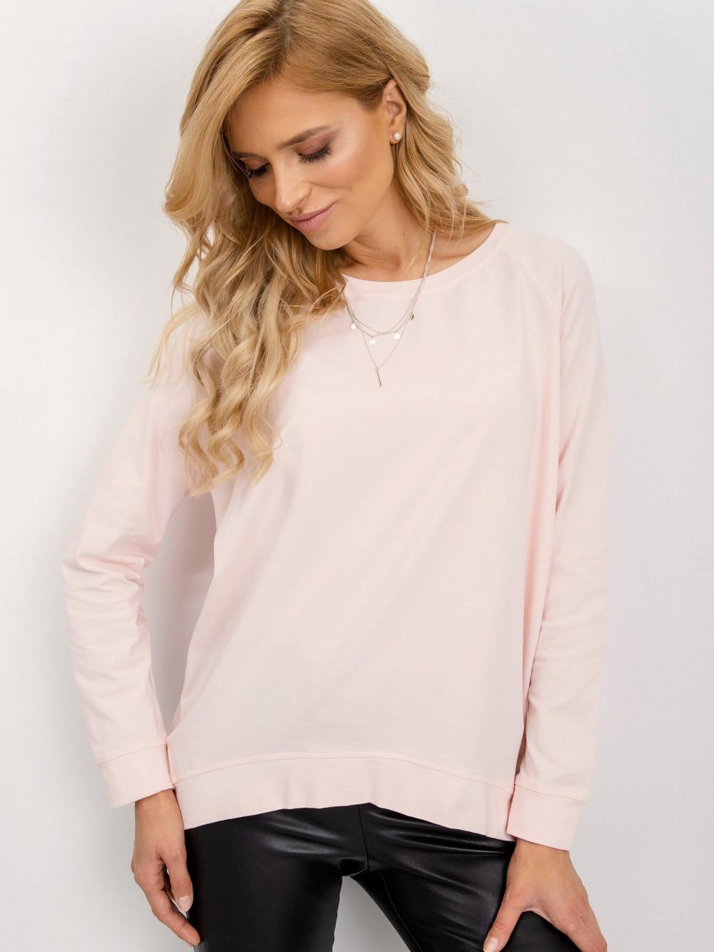 Różowa klasyczna bluza Denma 1