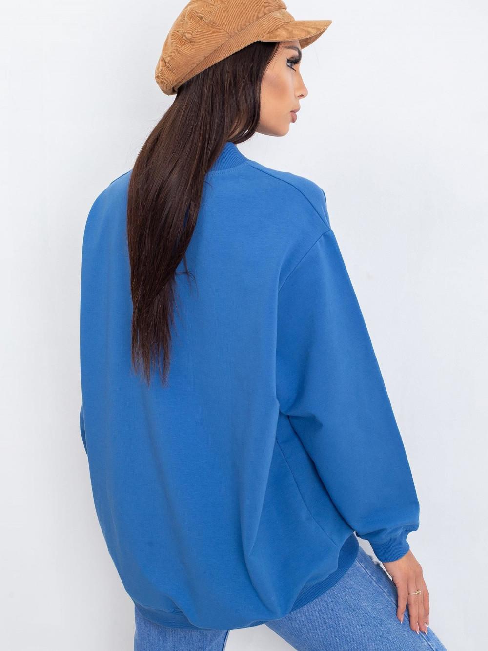 Niebieska bluza z ściągaczami Vicenza 4