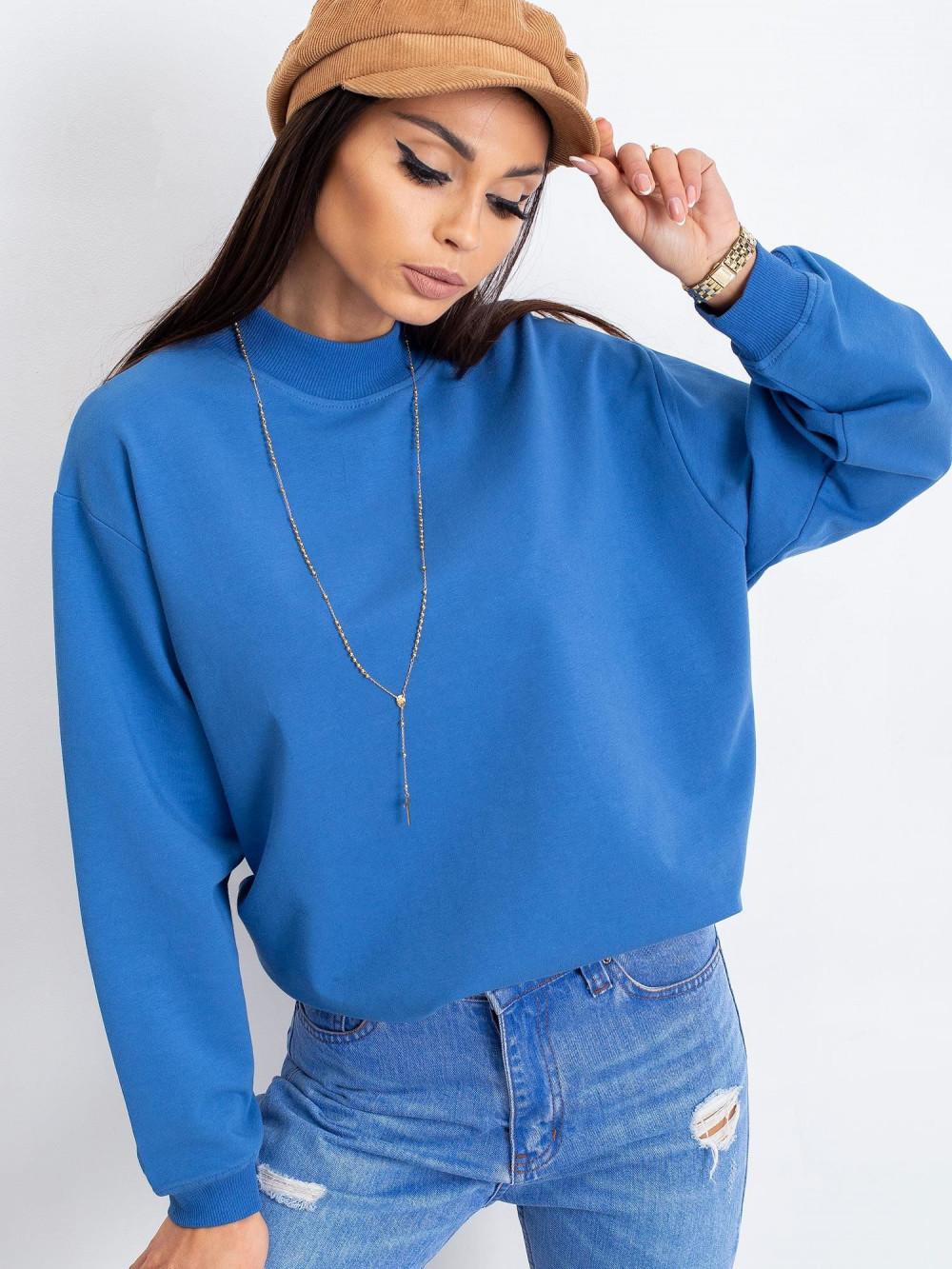 Niebieska bluza z ściągaczami Vicenza 2