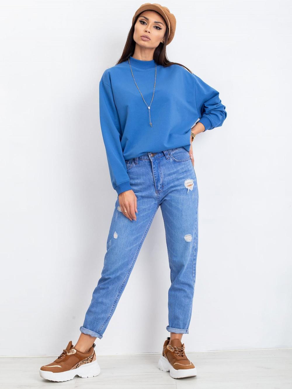 Niebieska bluza z ściągaczami Vicenza 5