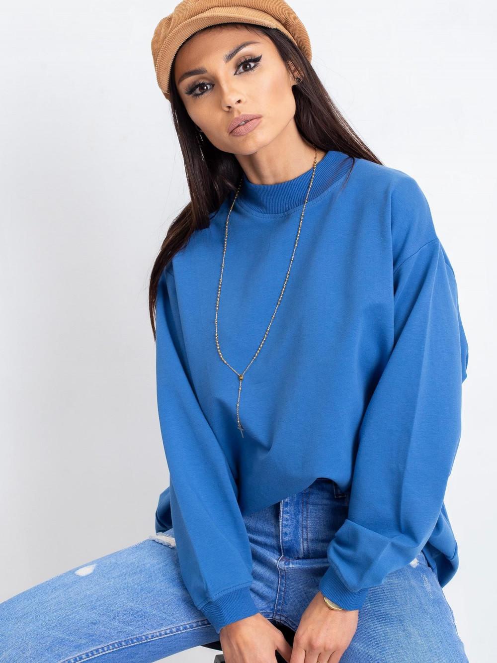 Niebieska bluza z ściągaczami Vicenza 1