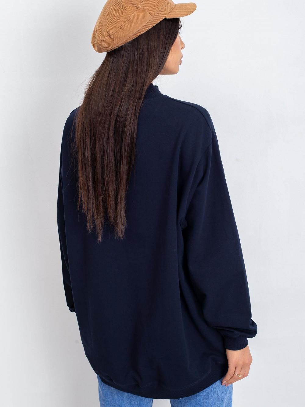Granatowa bluza z ściągaczami Vicenza 4