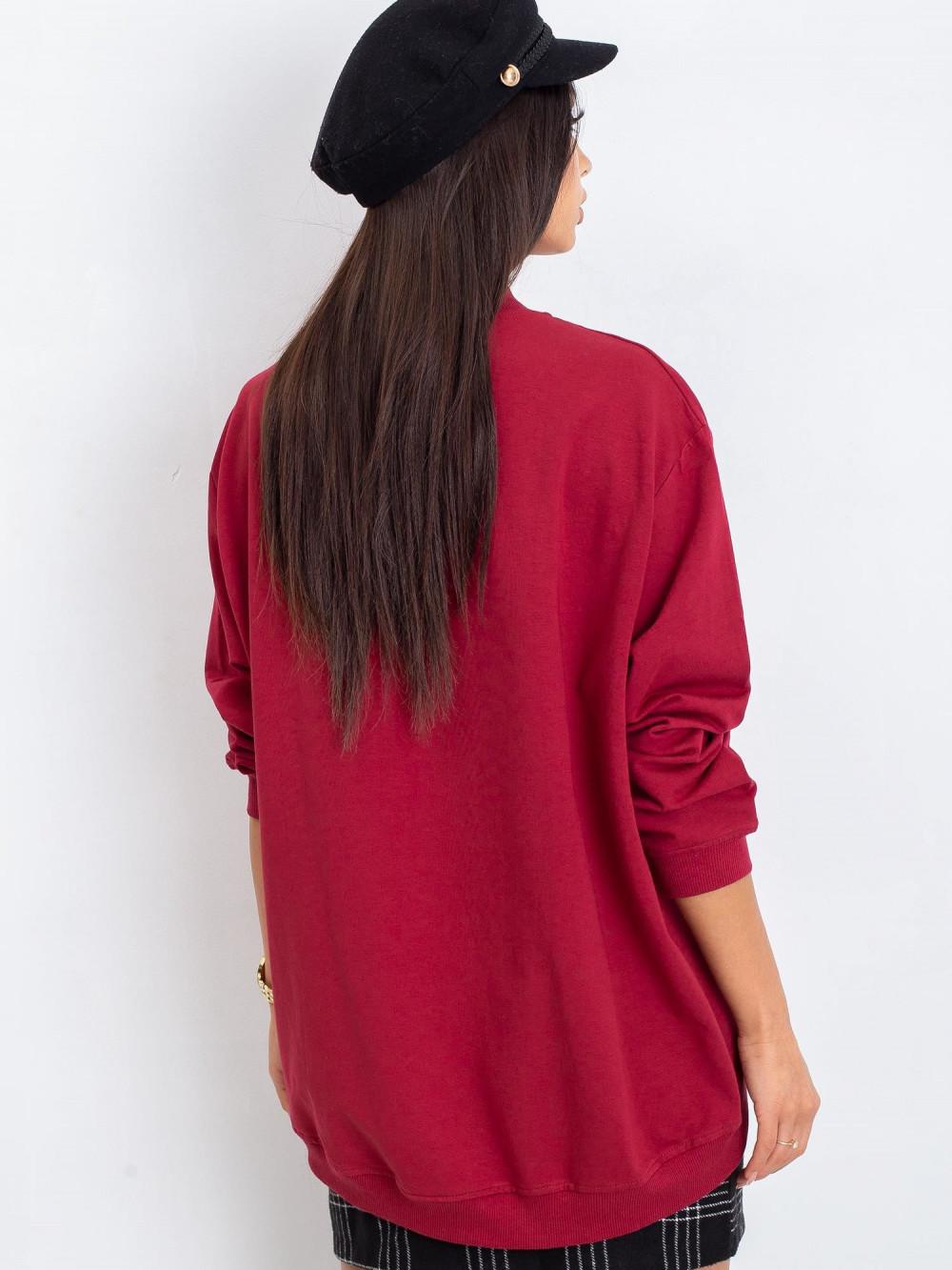 Bordowa bluza z ściągaczami Vicenza 5