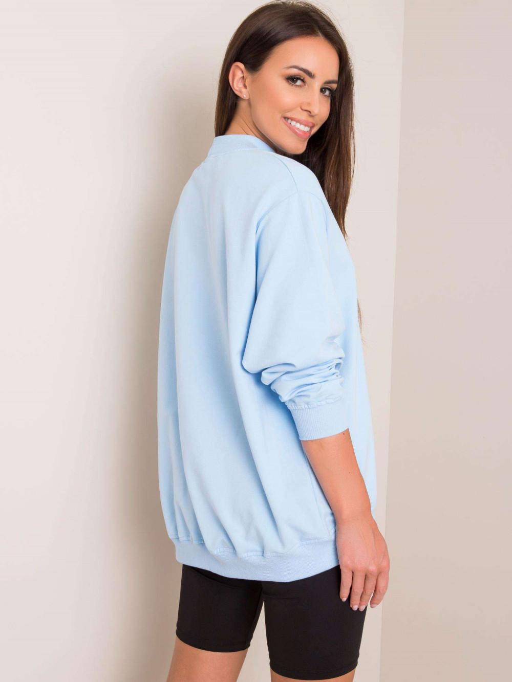 Jasnoniebieska bluza z ściągaczami Vicenza 2