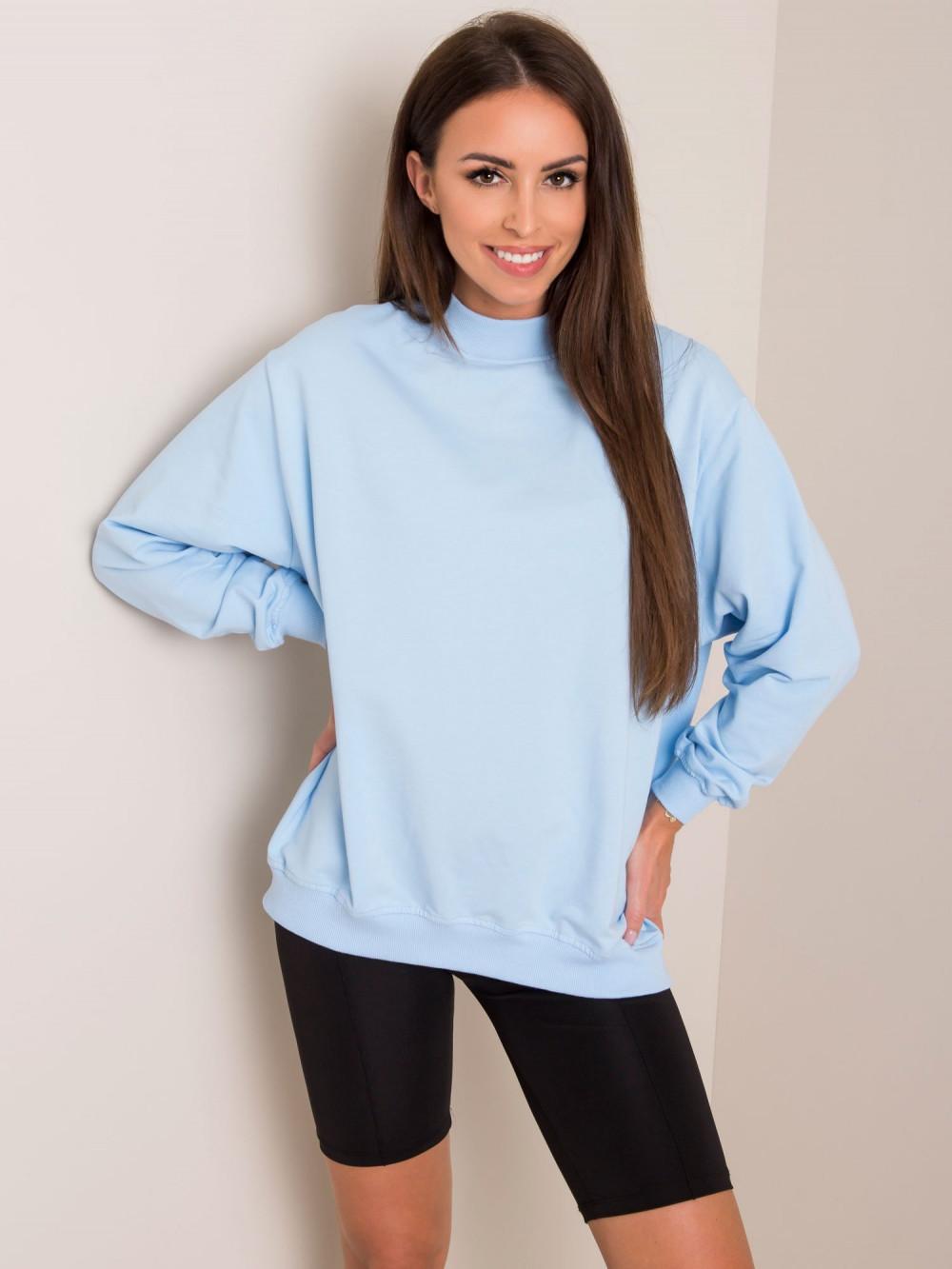 Jasnoniebieska bluza z ściągaczami Vicenza 1