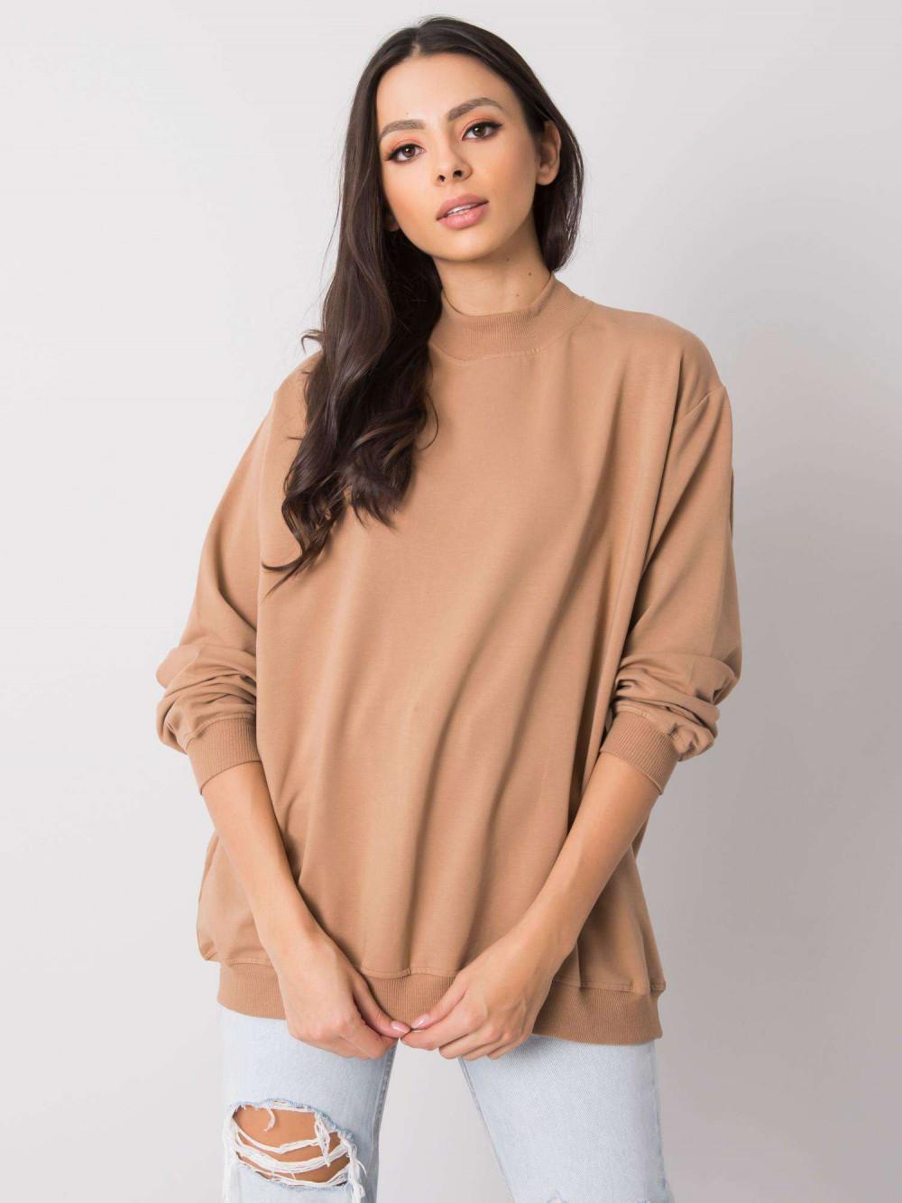 Karmelowa bluza z ściągaczami Vicenza 1