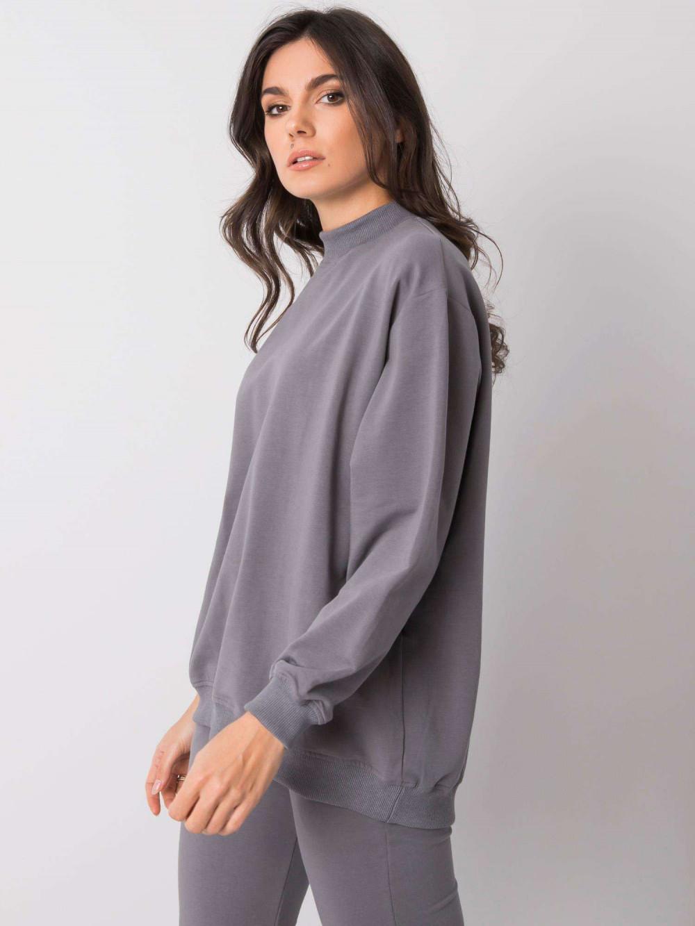 Szara bluza z ściągaczami Vicenza 4