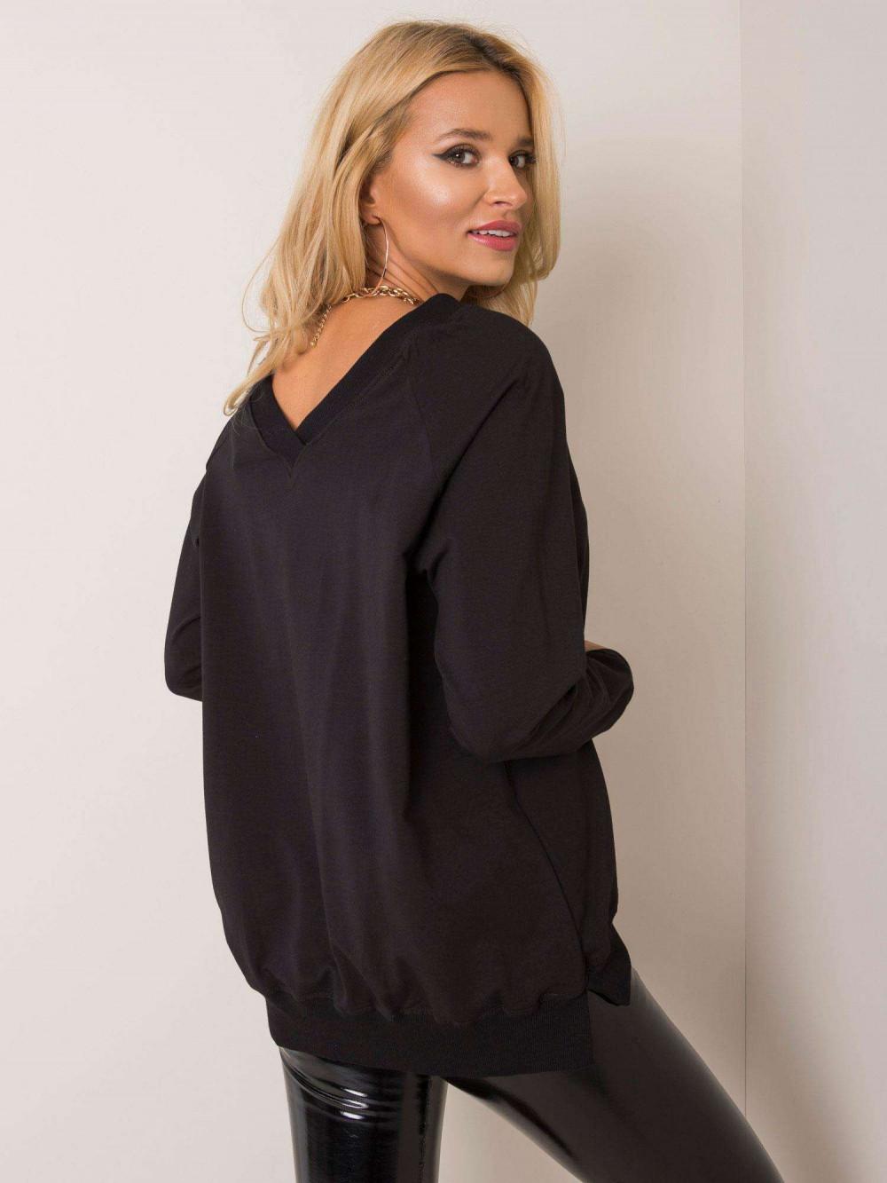 Czarna bluza z wycięciem V na plecach Serafia 1