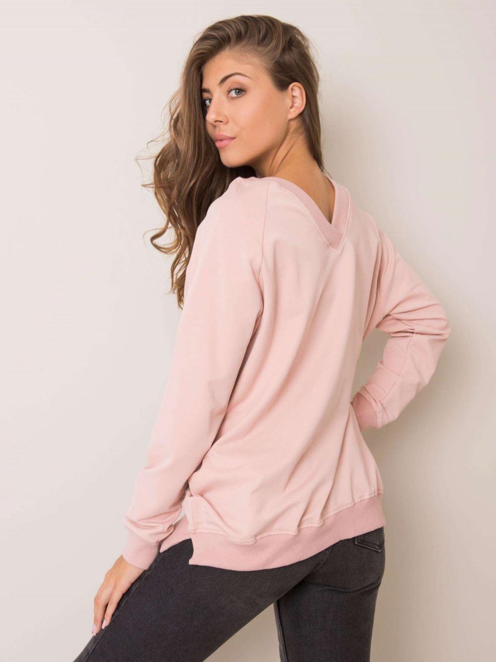 Różowa bluza z wycięciem V na plecach Serafia 1