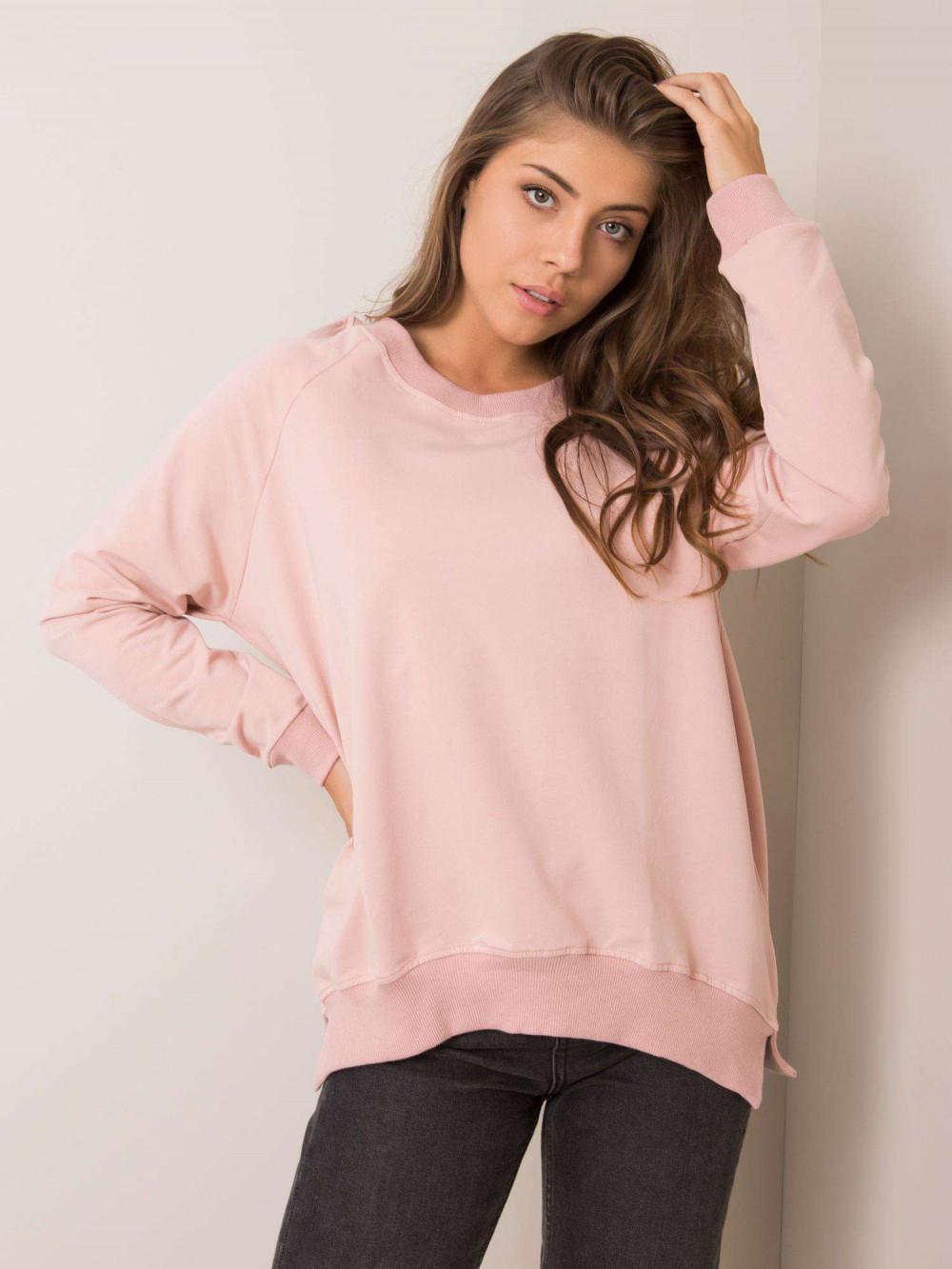 Różowa bluza z wycięciem V na plecach Serafia 2