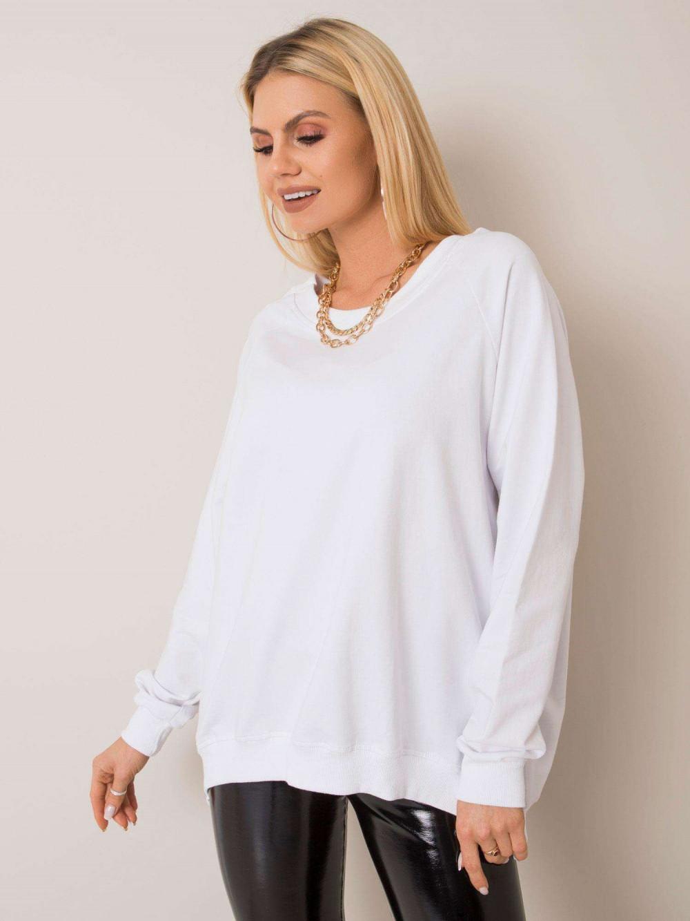 Biała bluza z wycięciem V na plecach Serafia 1