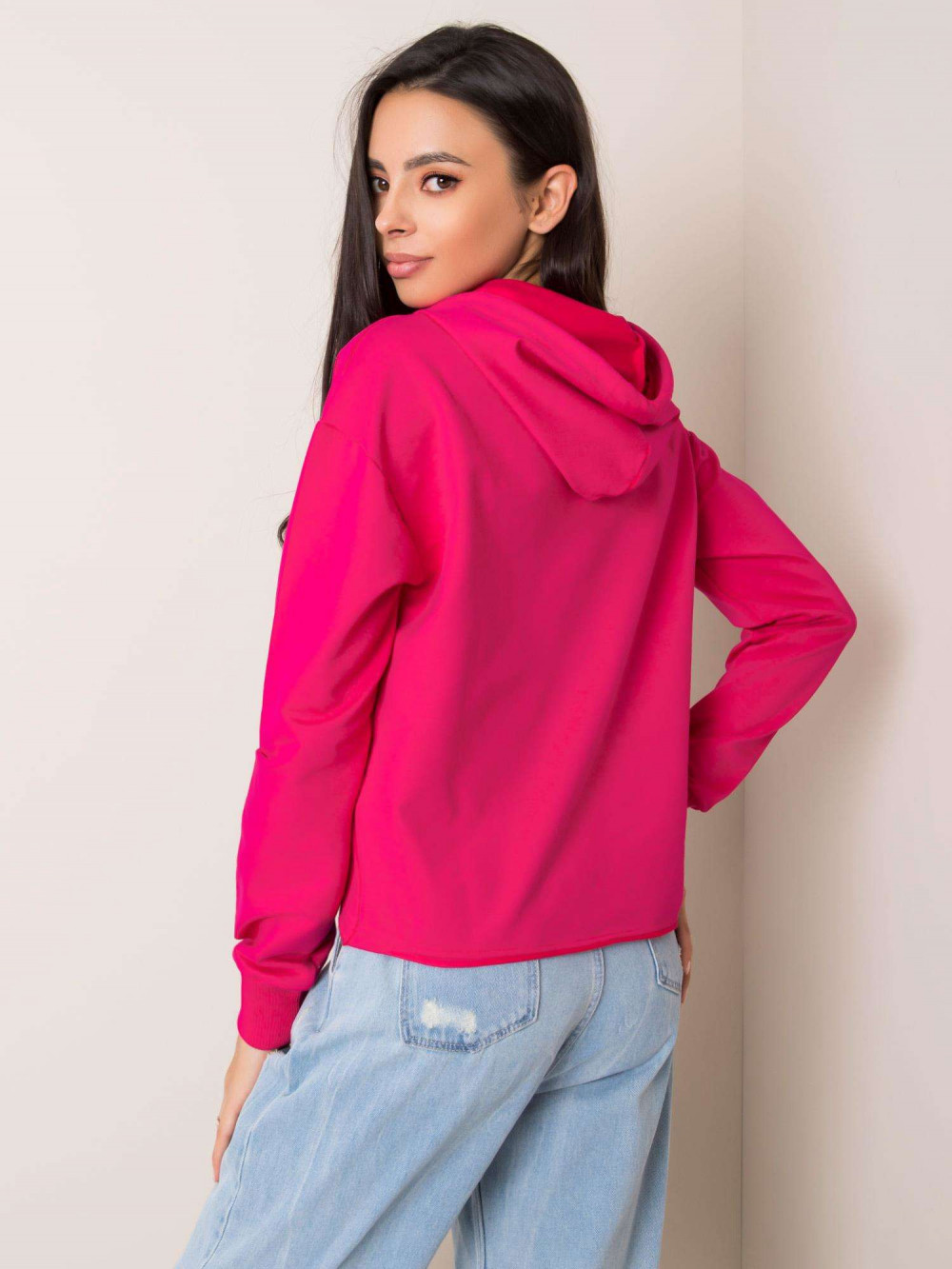 Różowa bluza fitness z kapturem Saris 2