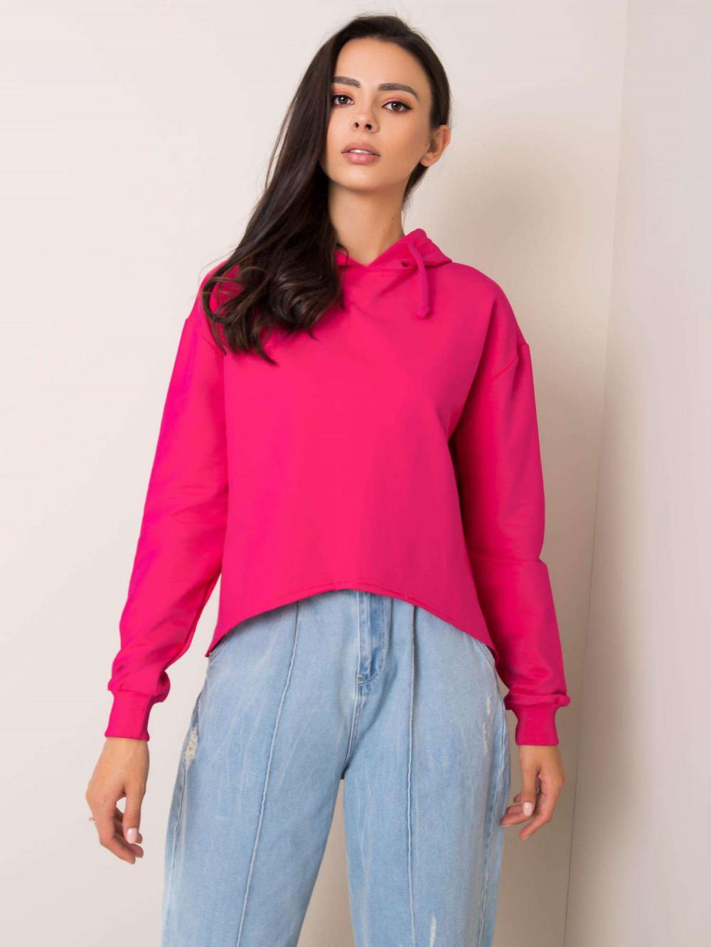 Różowa bluza fitness z kapturem Saris 1