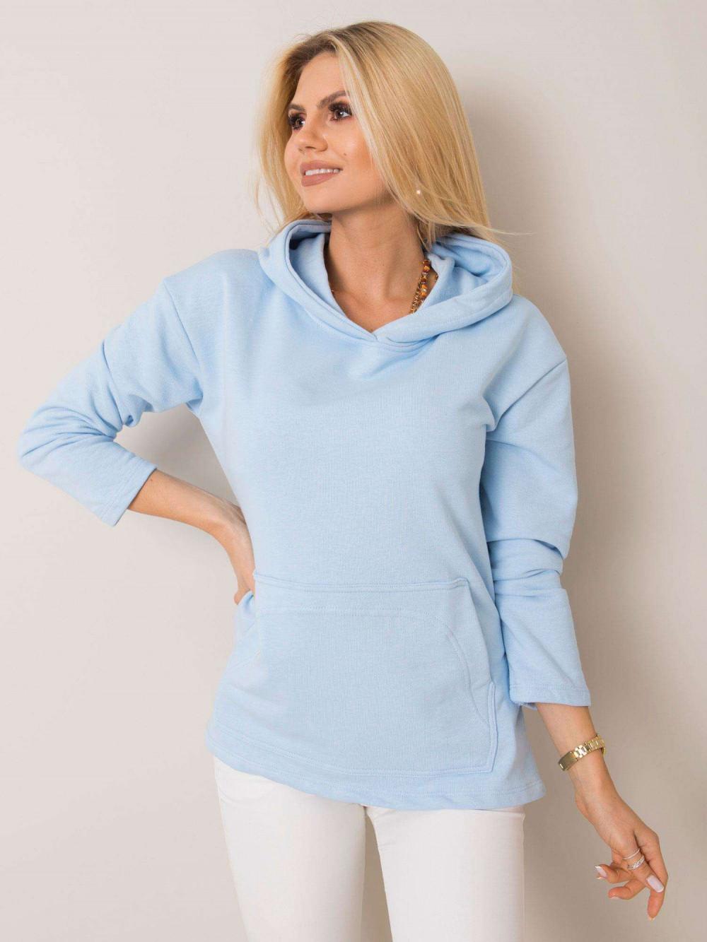 Niebieska bluza kangur oversize Lancome 1