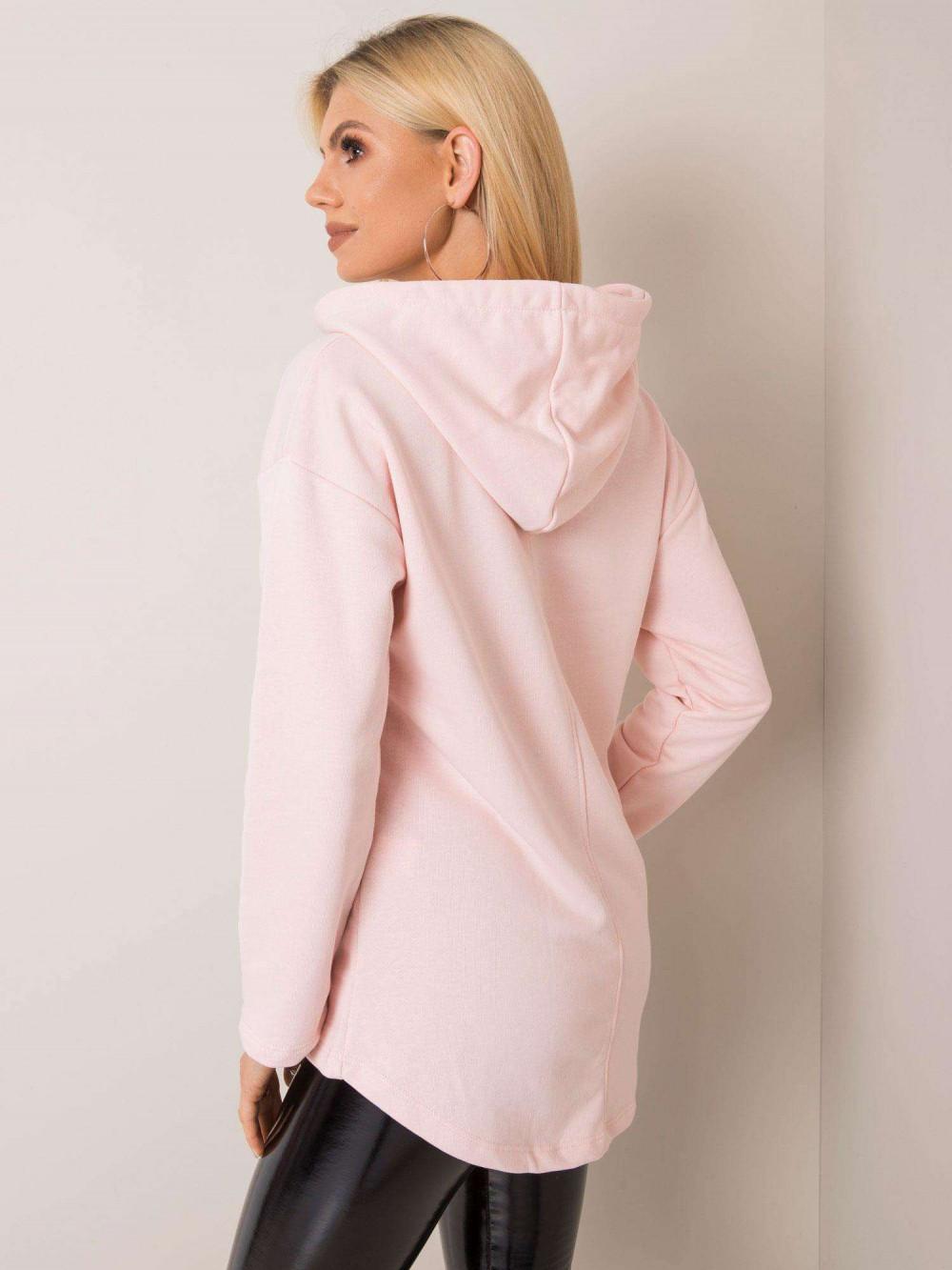 Różowa bluza kangur oversize Lancome 2