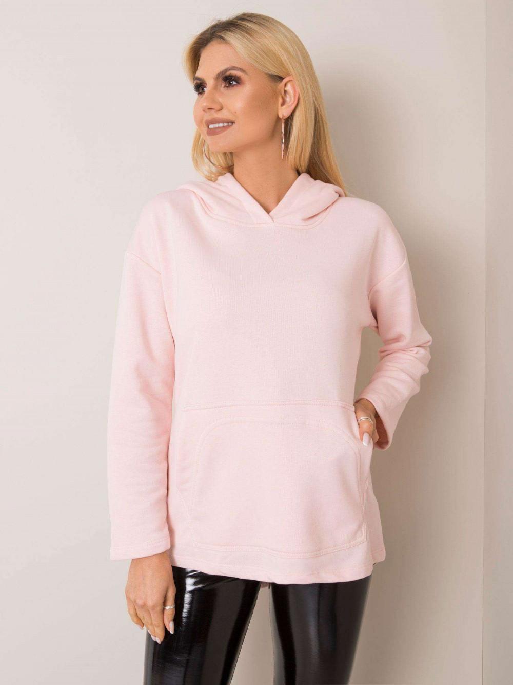 Różowa bluza kangur oversize Lancome 1