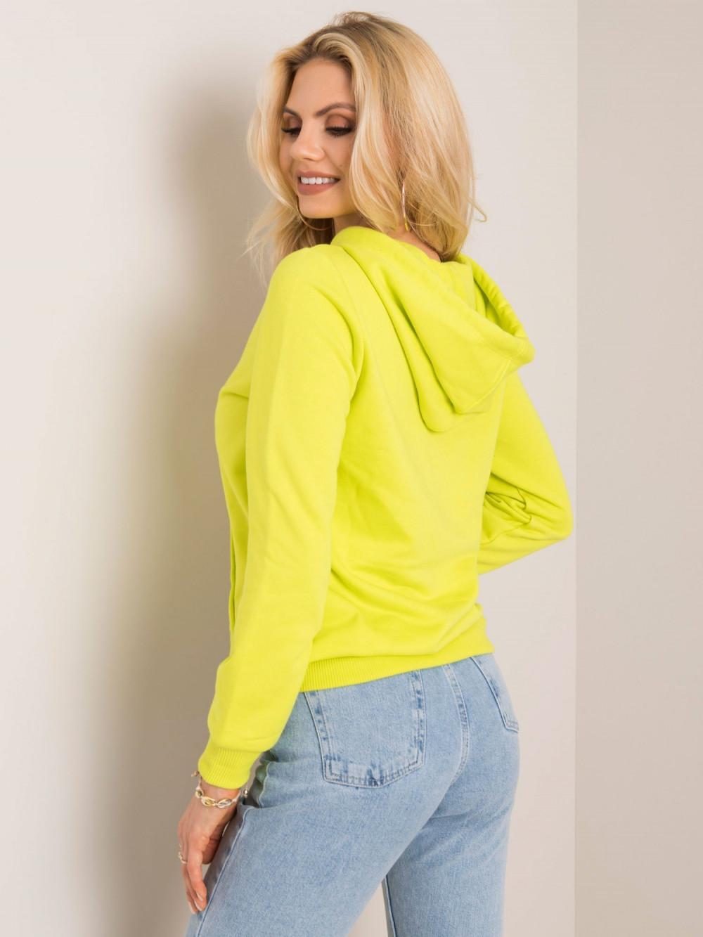 Limonkowa bluza kangur z kieszenią Lavo 2
