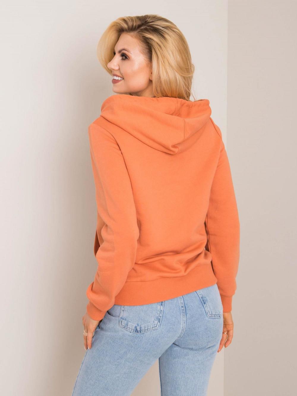 Pomarańczowa bluza kangur z kieszenią Lavo 2