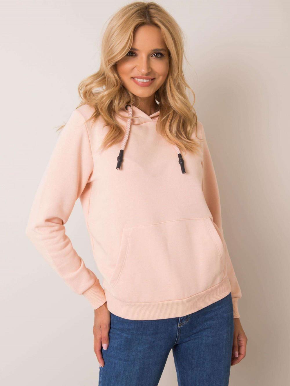 Różowa bluza kangur z kieszenią Lavo 1