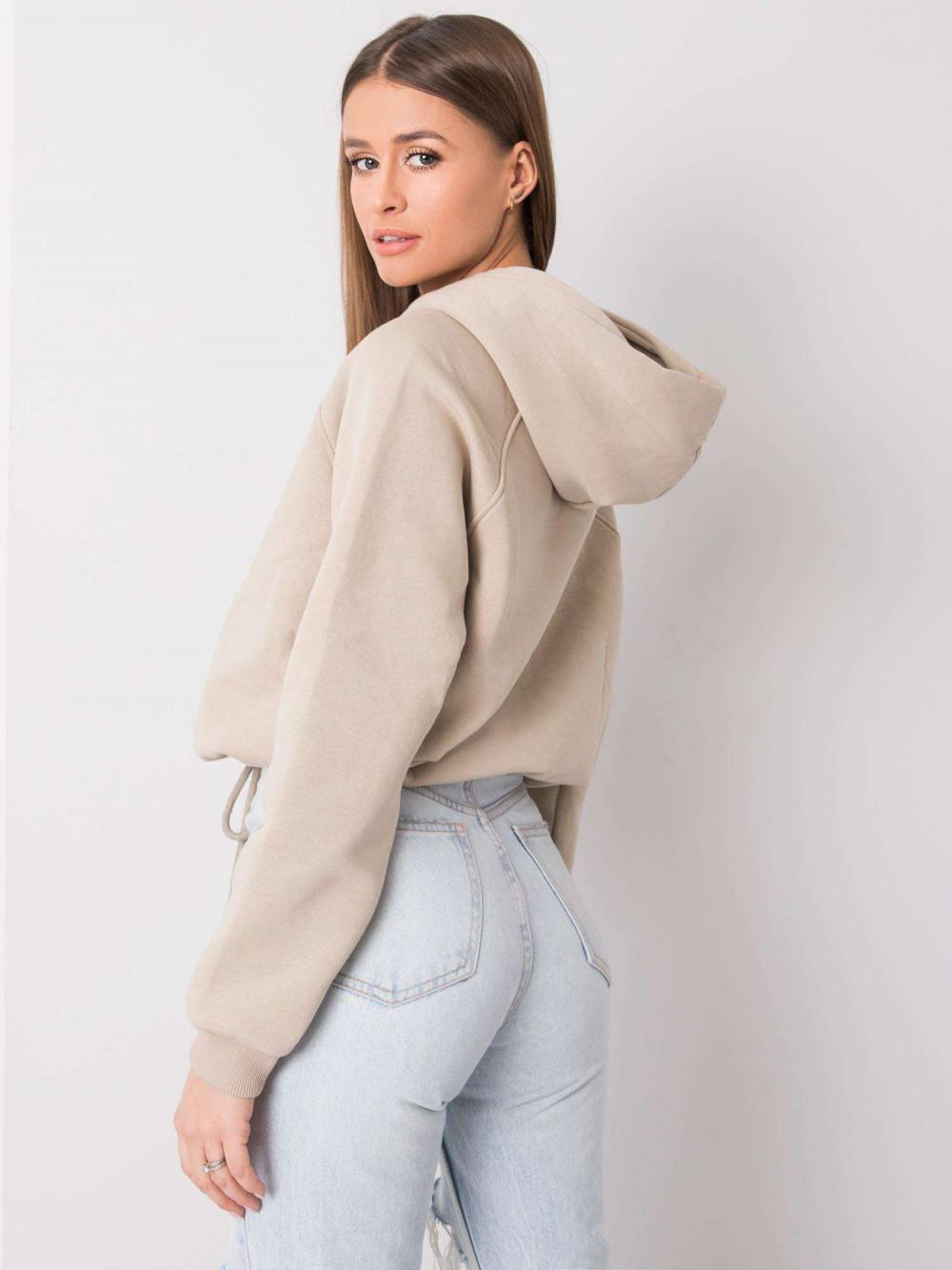 Beżowa bluza kangur Roma 4