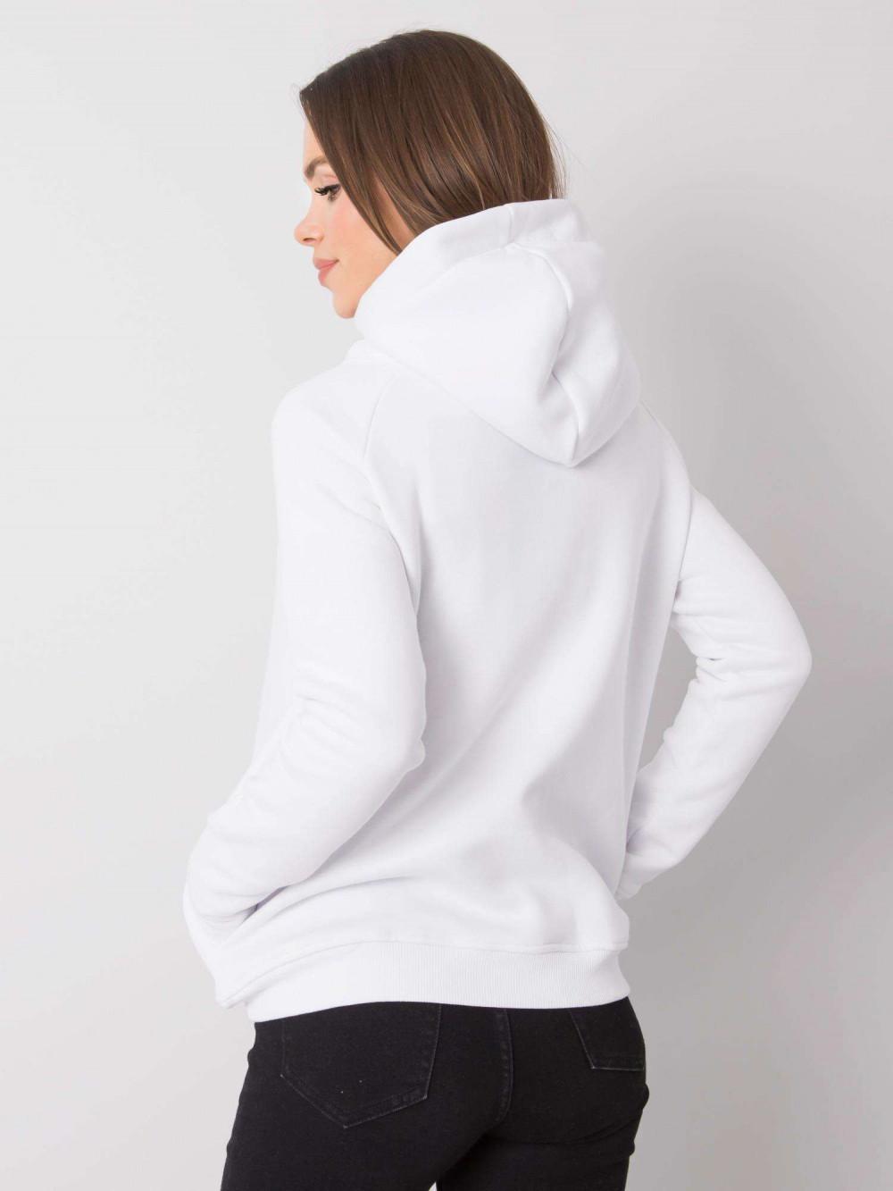 Biała bluza fitness z troczkami Fasma 4