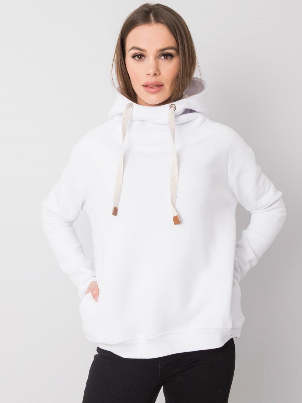 Biała bluza fitness z troczkami Fasma 2