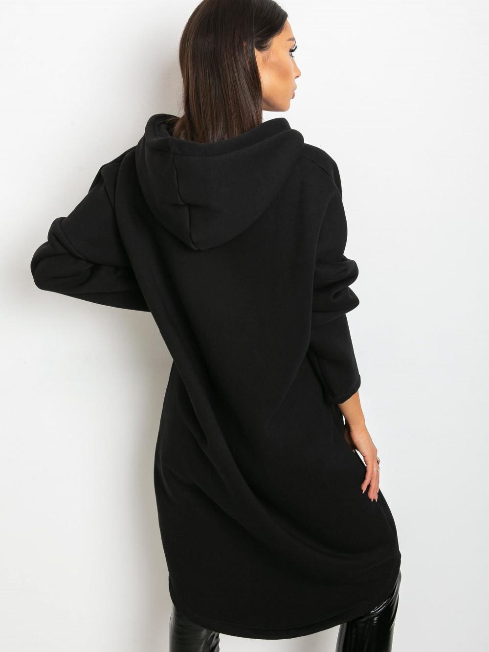 Czarna długa bluza z kapturem Stylo 4