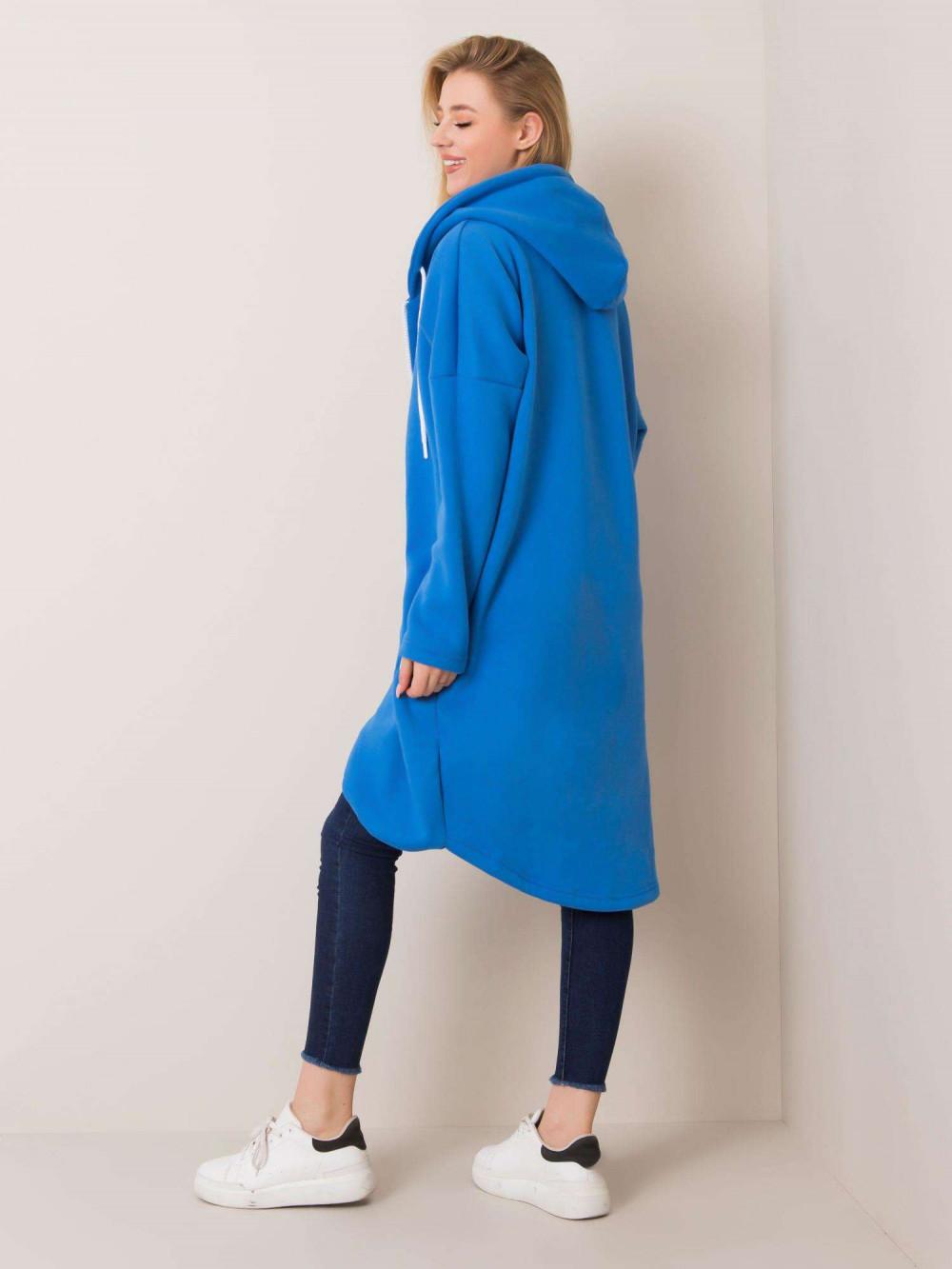 Niebieska długa bluza z kapturem Stylo 2
