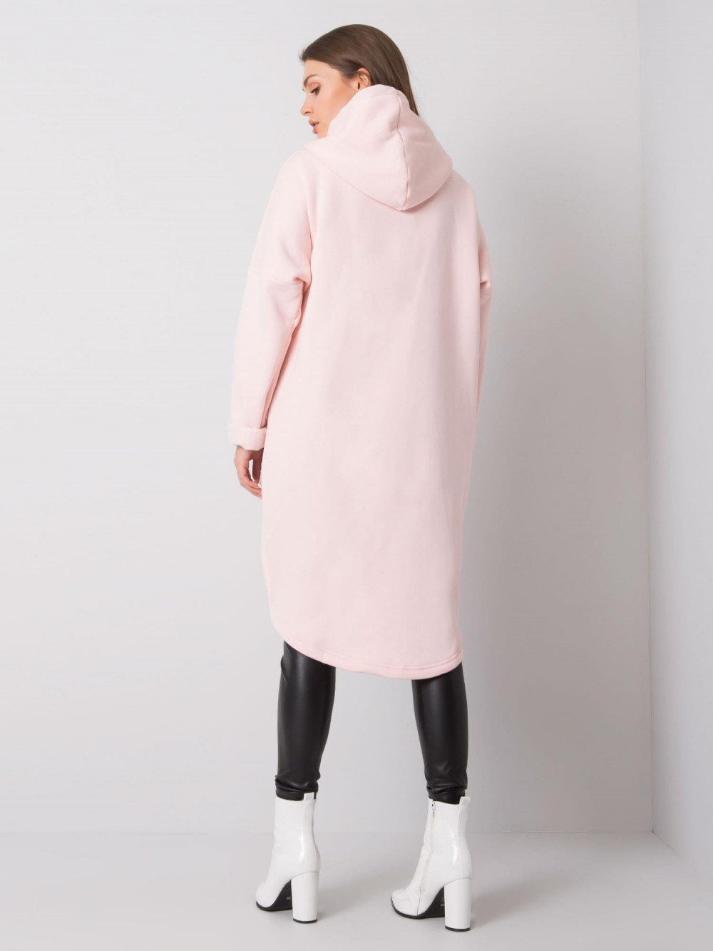 Różowa długa bluza z kapturem Stylo 4
