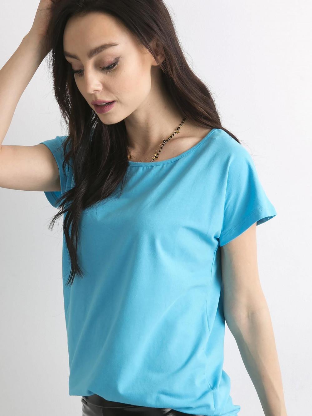 Niebieski t-shirt basic Rough 1