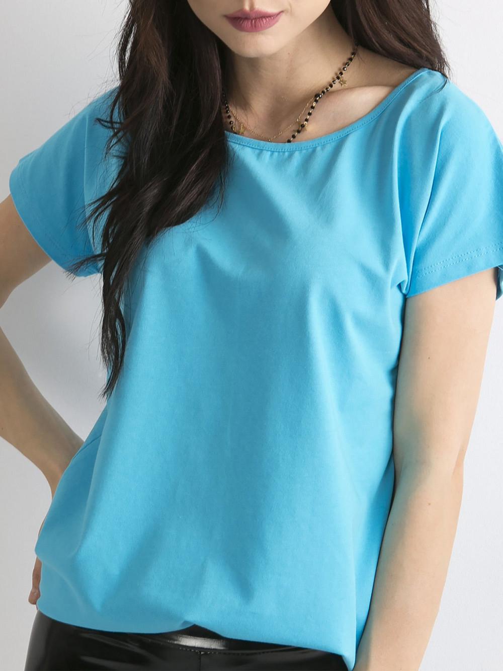 Niebieski t-shirt basic Rough 2