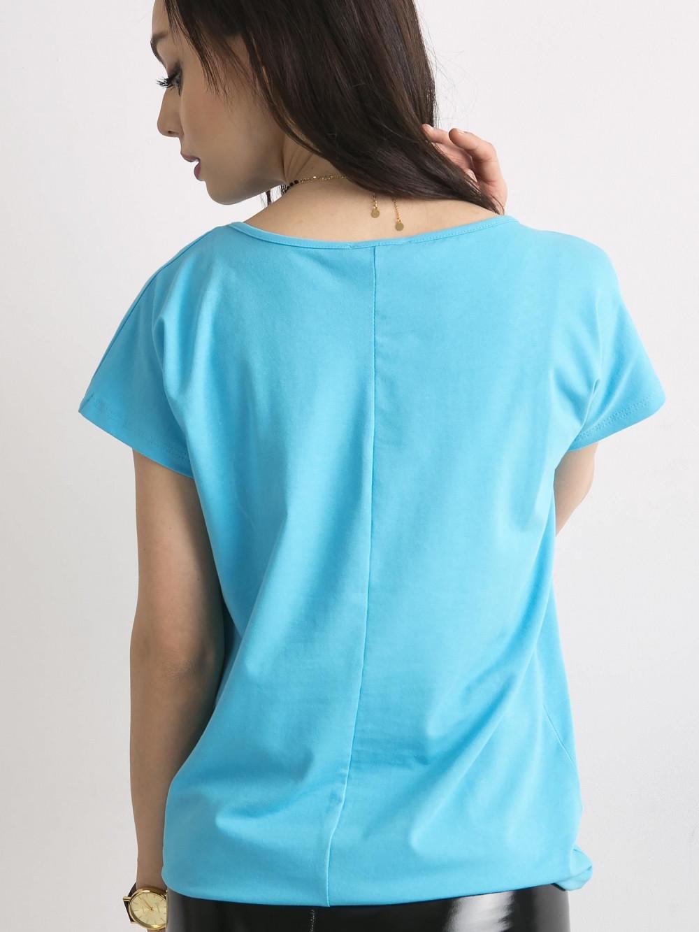 Niebieski t-shirt basic Rough 4