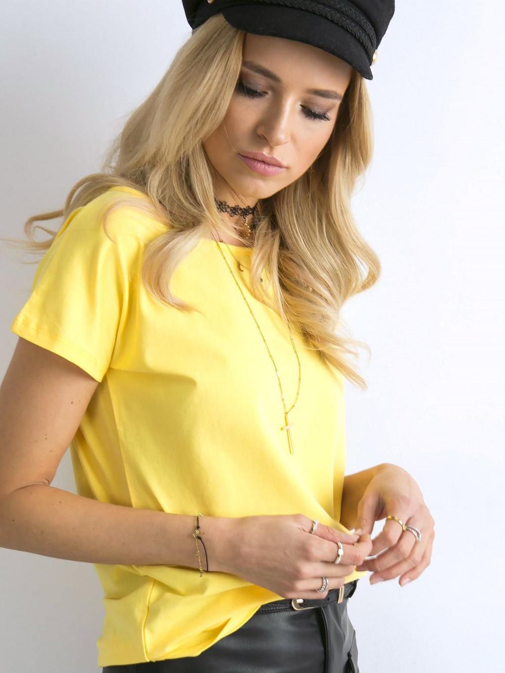 Żółty t-shirt basic Rough 2