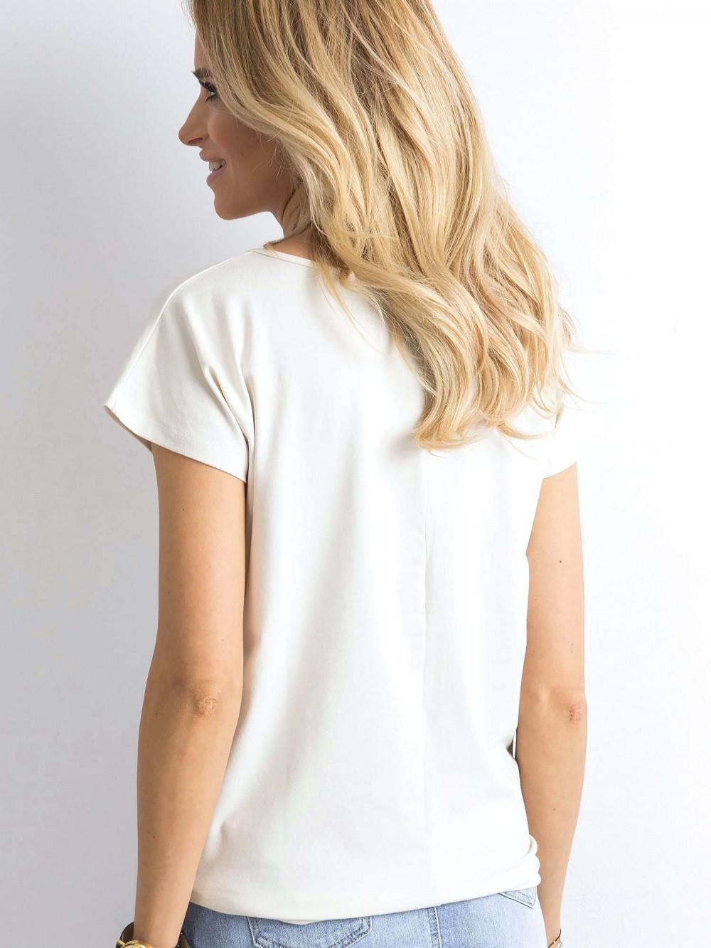 Beżowy t-shirt basic Rough 4