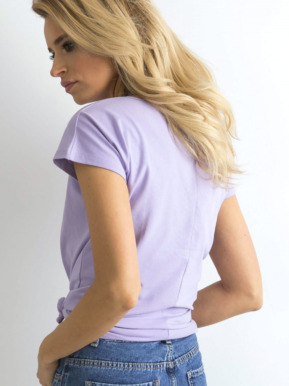 Fioletowy t-shirt basic Rough 5