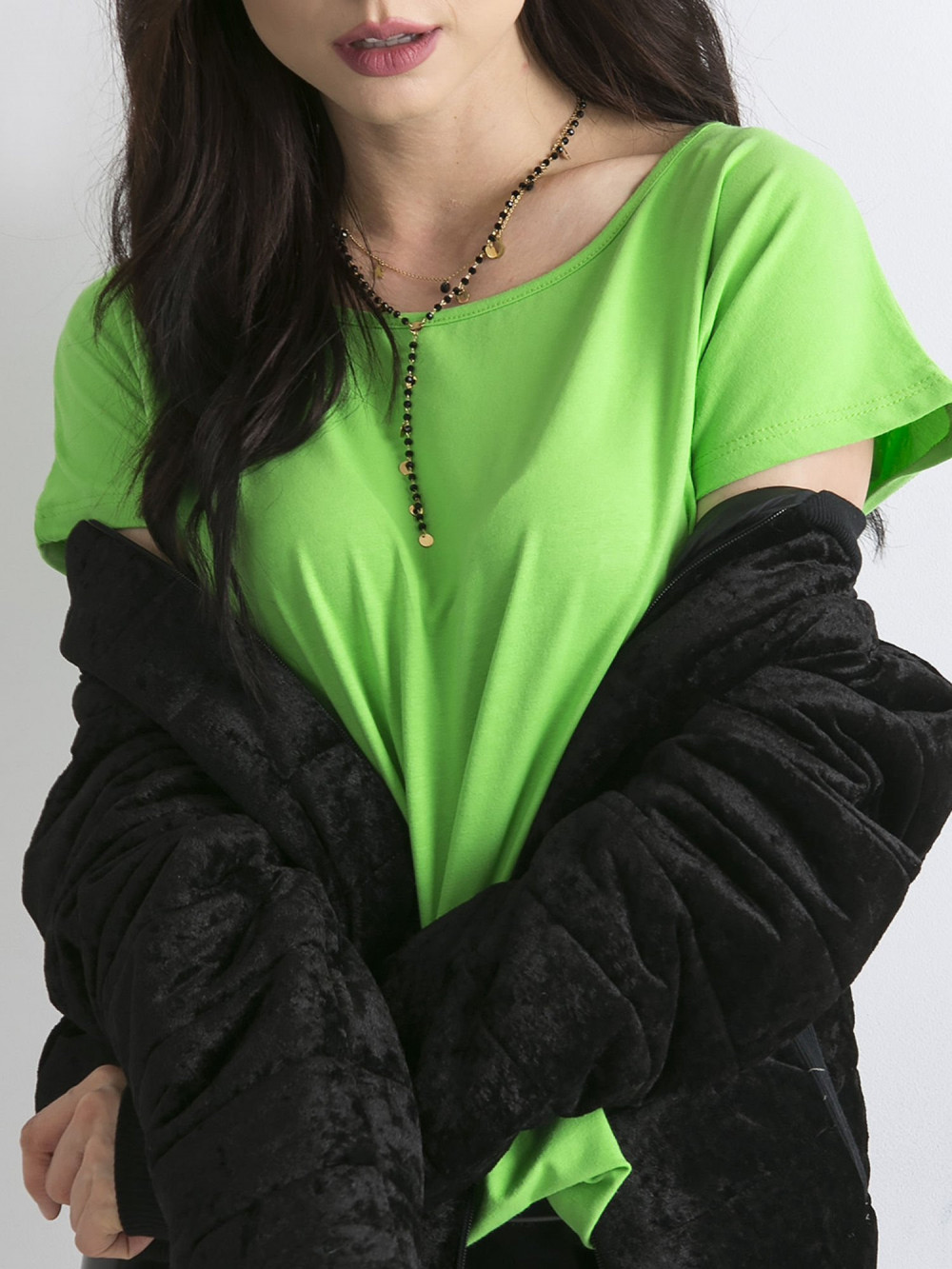 Zielony t-shirt basic Rough 2