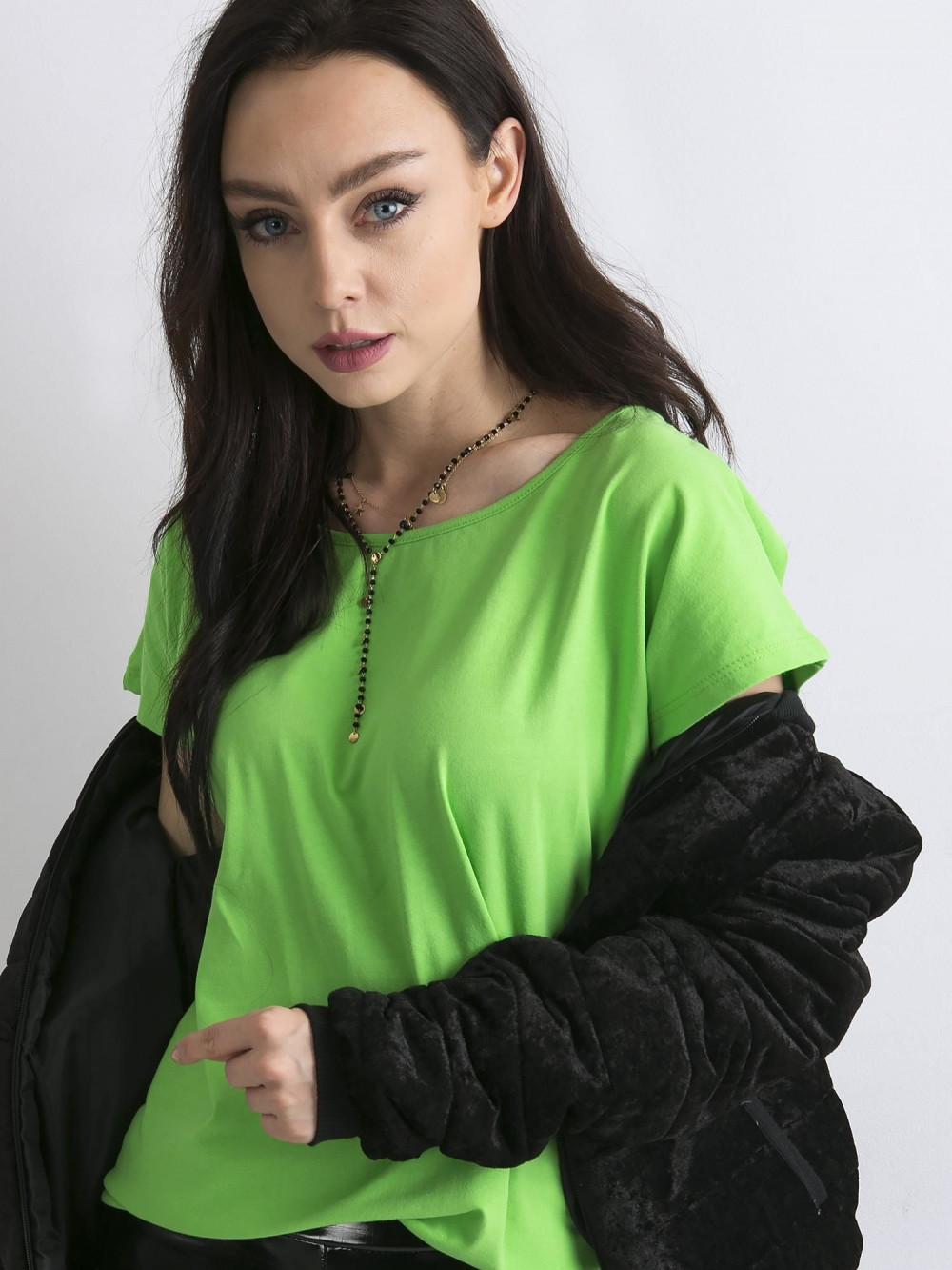 Zielony t-shirt basic Rough 1